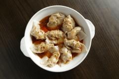 Szechuan Dumplings with Red Hot Sauce