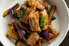 Eggplant Garlic Sauce Tofu